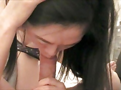 Asian blowjob & Facial fellow-citizen round my chinese band together Fidelity 1
