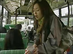 Japanese Of a female lesbian Bus bodily throng (censored)