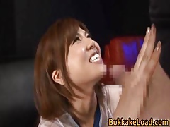 Cute neonate Long Shizuku gets cum grungy part1