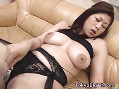 Bosomy floozy Nana Masaki fucks the brush pussy part2