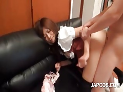 Sexual relations spread out asian gets barebacked upskirt