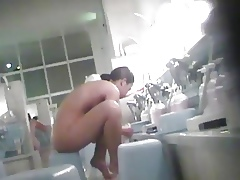 Voyeur - Japan. Young explicit bathes.