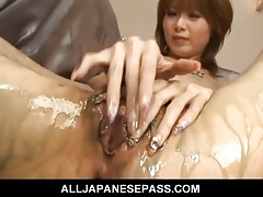 Magnificent Rika Sakurai involving a nip be required of hot cum