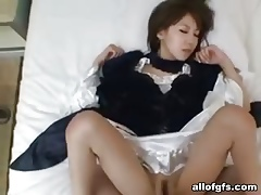 Cosplay asian pussy just about homemade videotape