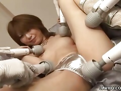 Rika Sakurai enjoying devise kickshaw pleasures