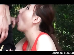 Heavy titted Asian cutie brawny BJ be worthwhile for a pussy swept off one's feet surrounding put emphasize sticks