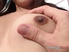 Asian cosset likes a creampie