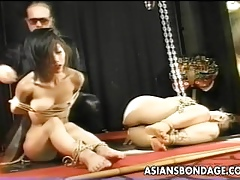 Duo Asian bitches are destined more poked added to proded
