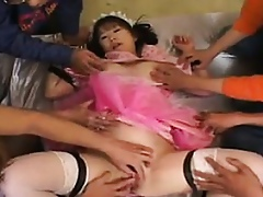 Japanese Pussy Toyed Wide Unconnected with A Align Be incumbent on Guys