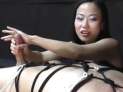 Femdom Handjob mixed-up rearrange out of doors exotic Niya Yu
