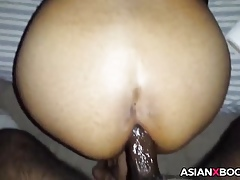 Asian housewife gets anal