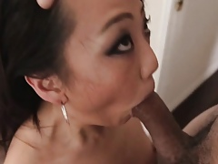 Asian Mikko Dai sucks bushwa to the fullest extent a finally monster headed